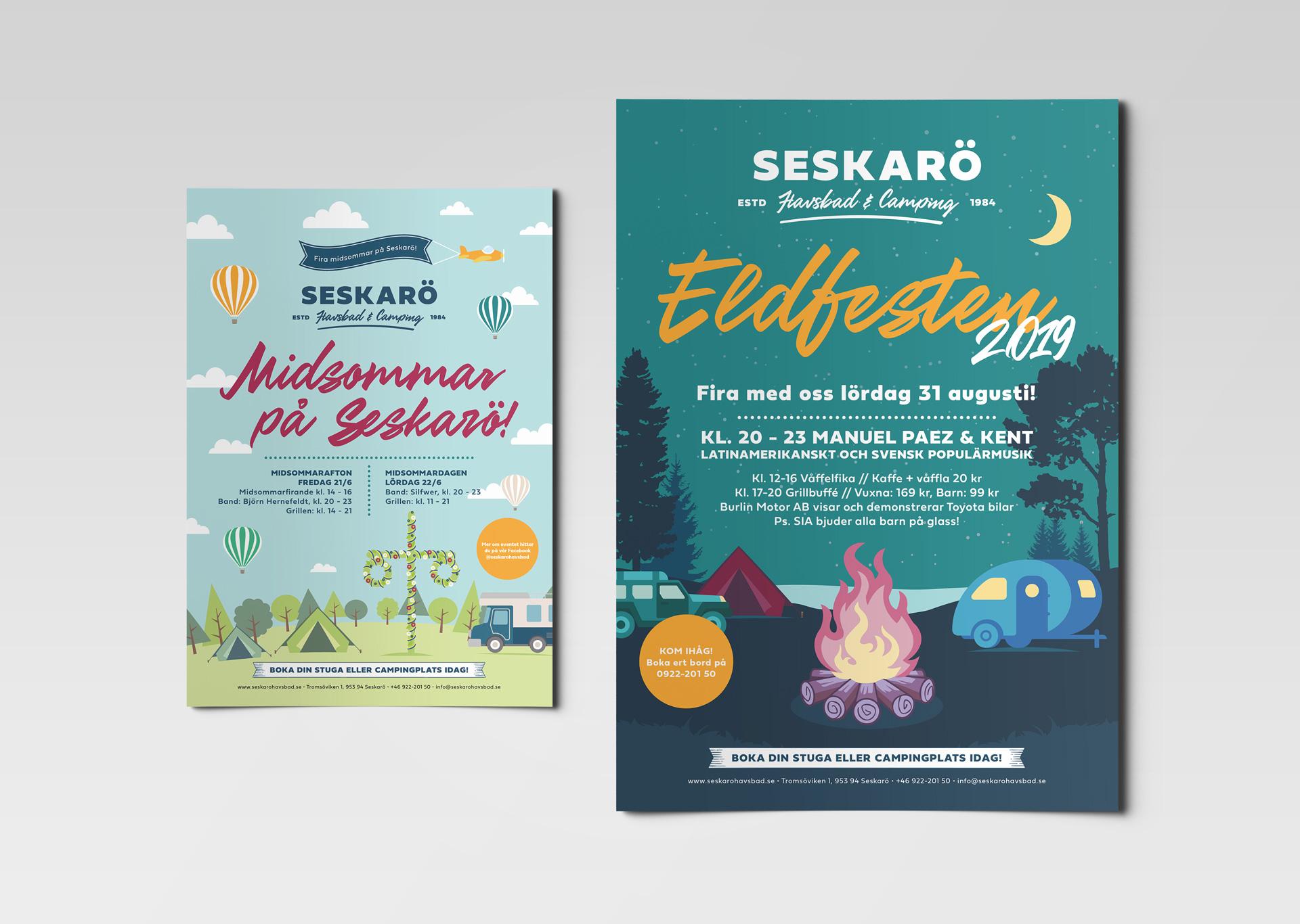 Seskarö Havsbad - Branding, webb & illustration