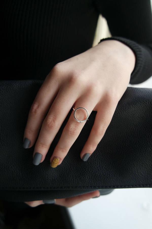 Open circle ring (£9.95)