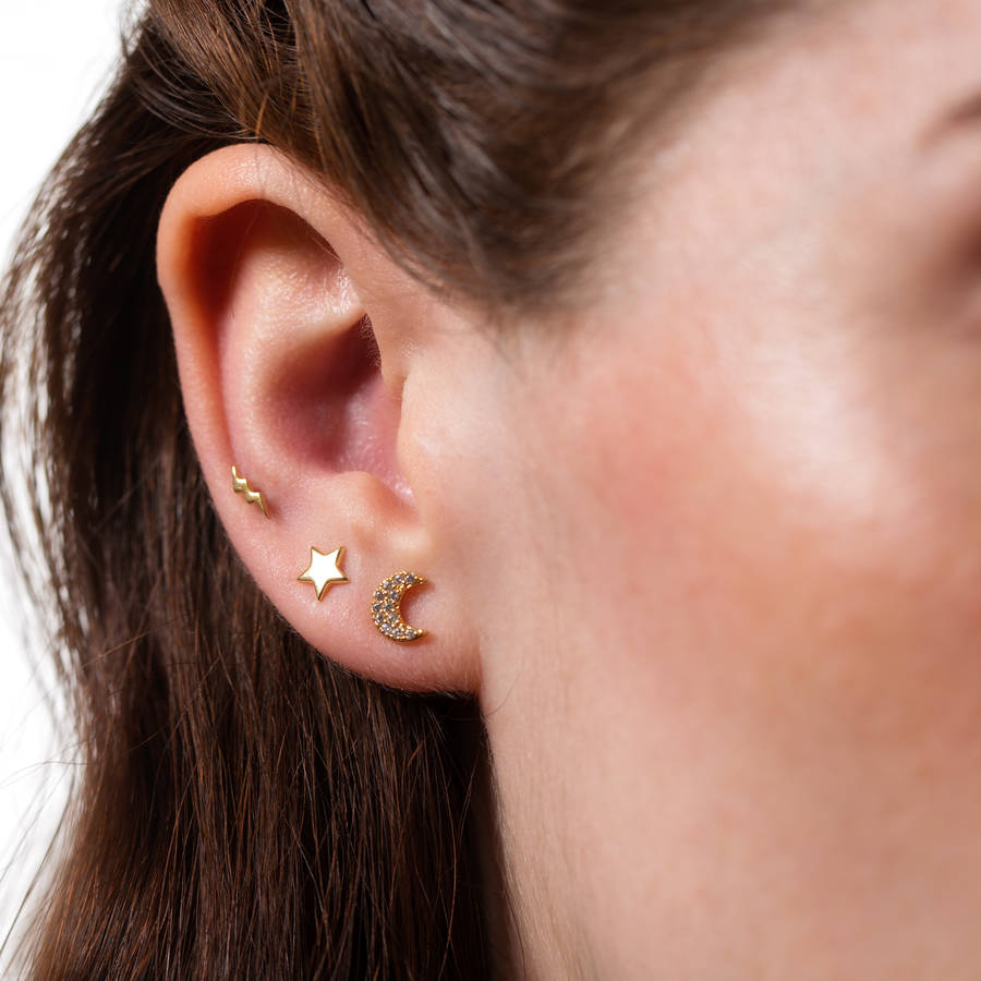 Set of three celestial earrings (£20.00)
