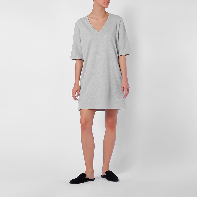 Dress two-sided light grey (€63)