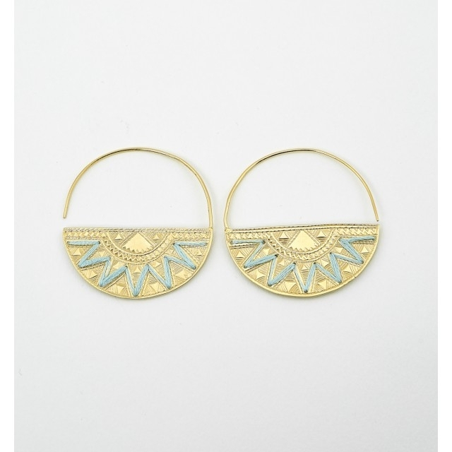 Vermeil embroidered creoles (€120)