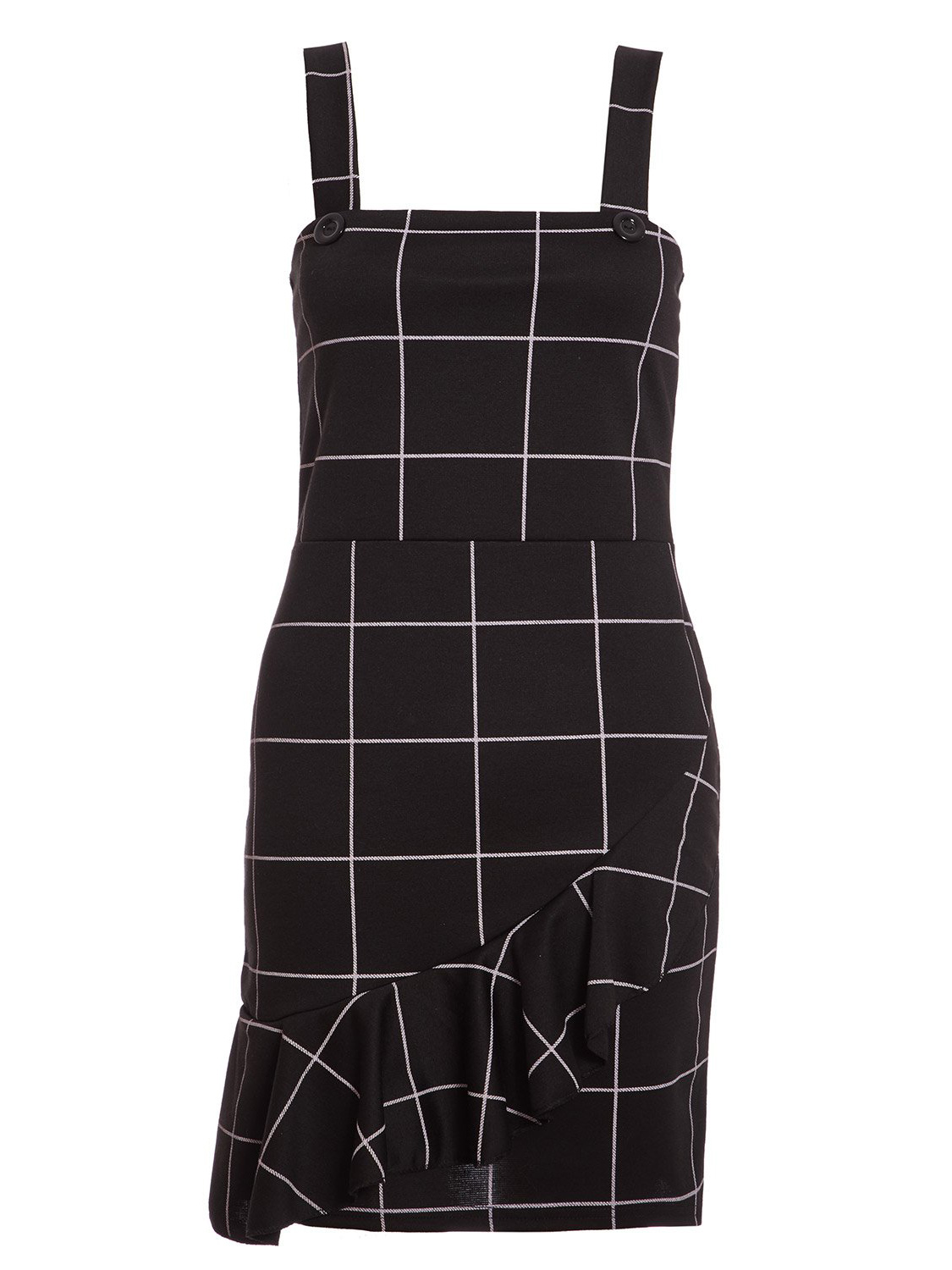 Black and Cream Check Button Pinafore (£22.99)