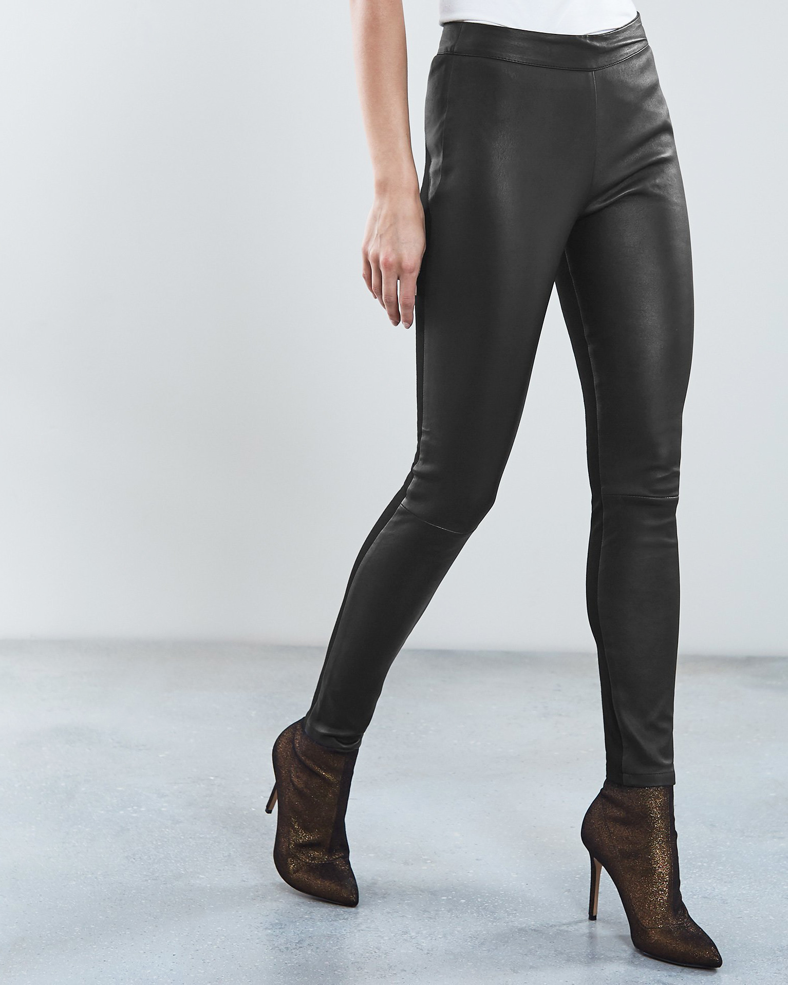 Valerie Leather Ponte Leggings (£375)