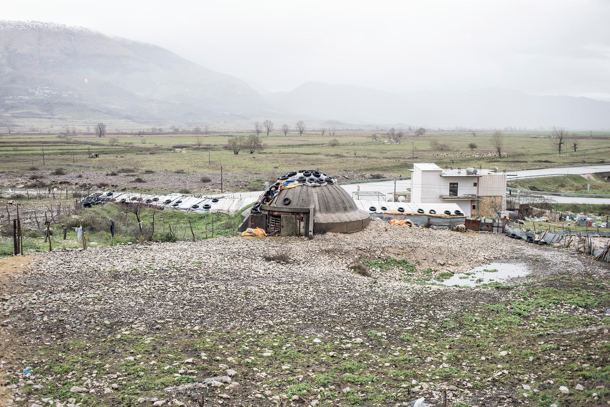 A bunker near Jorgucat, Albania