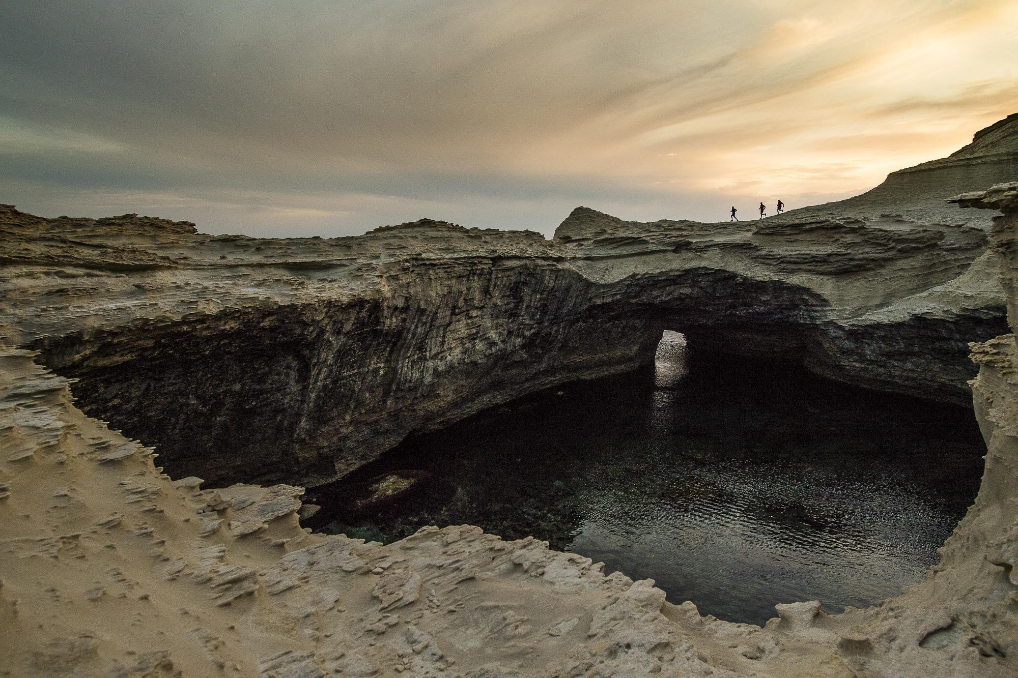 Capu Pertusato au coucher du soleil, Corse