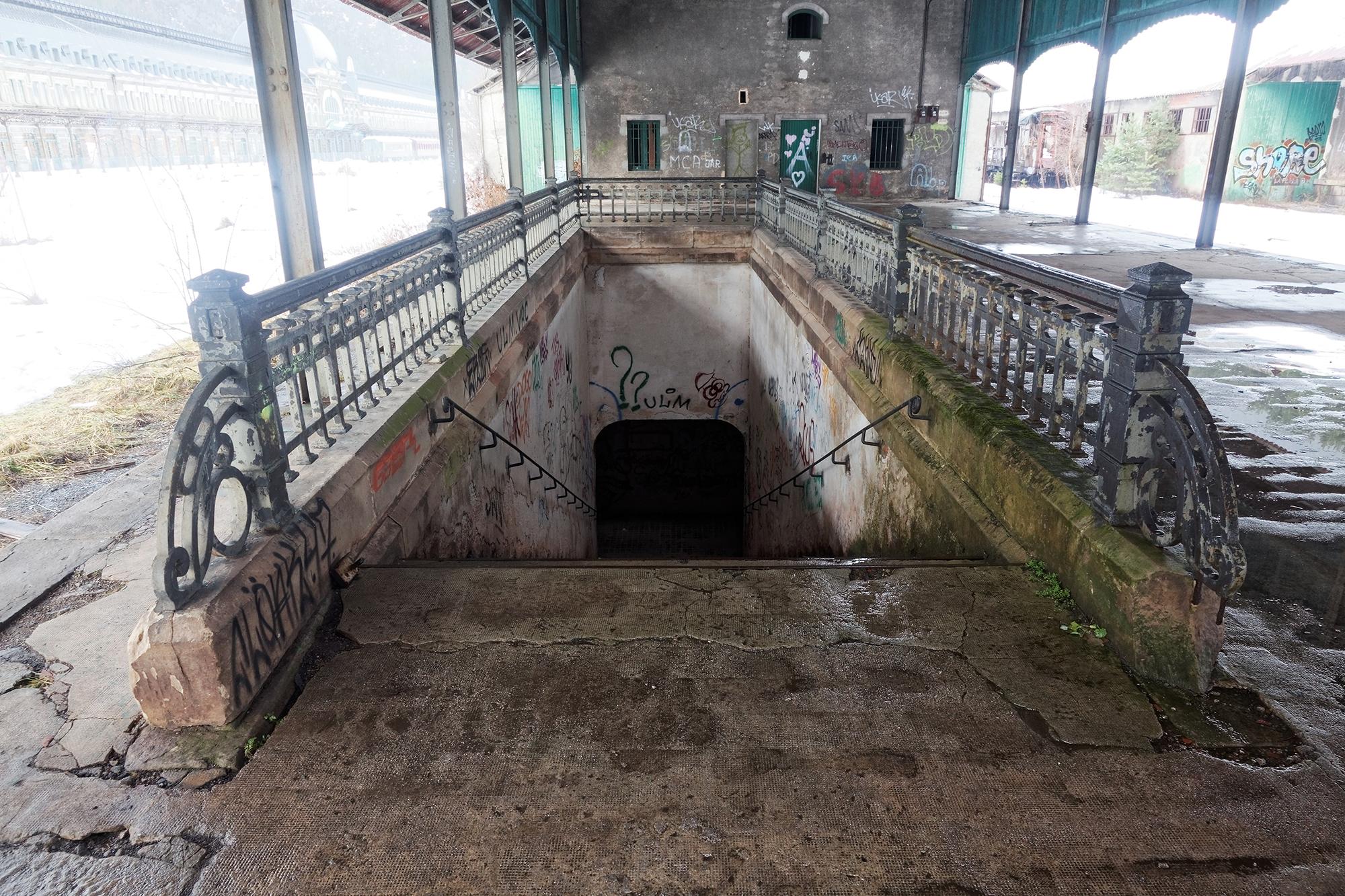 Couloir souterrain permettant de franchir les rails, Canfranc