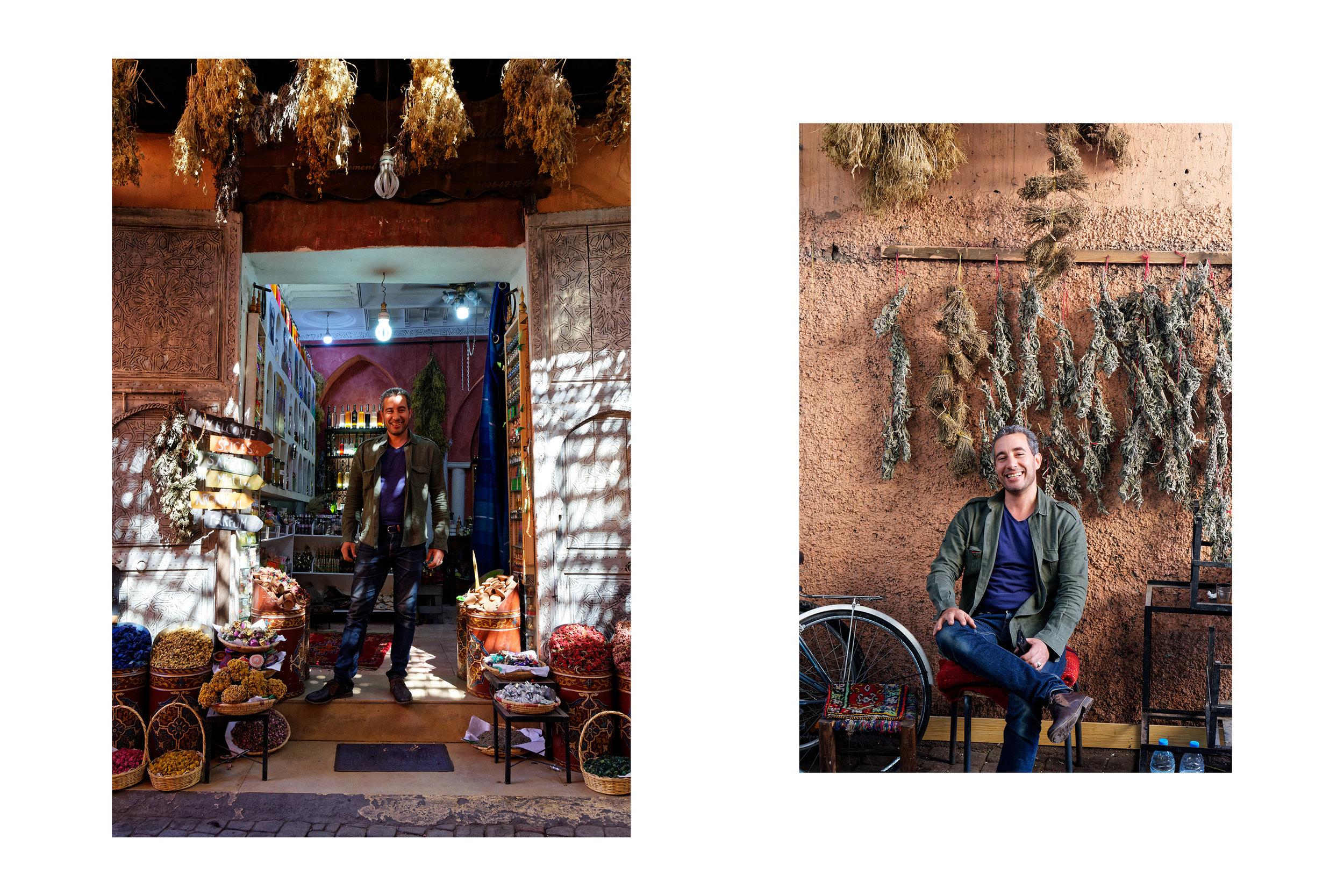 Ben Tajani à l'herboristerie, Marrakech
