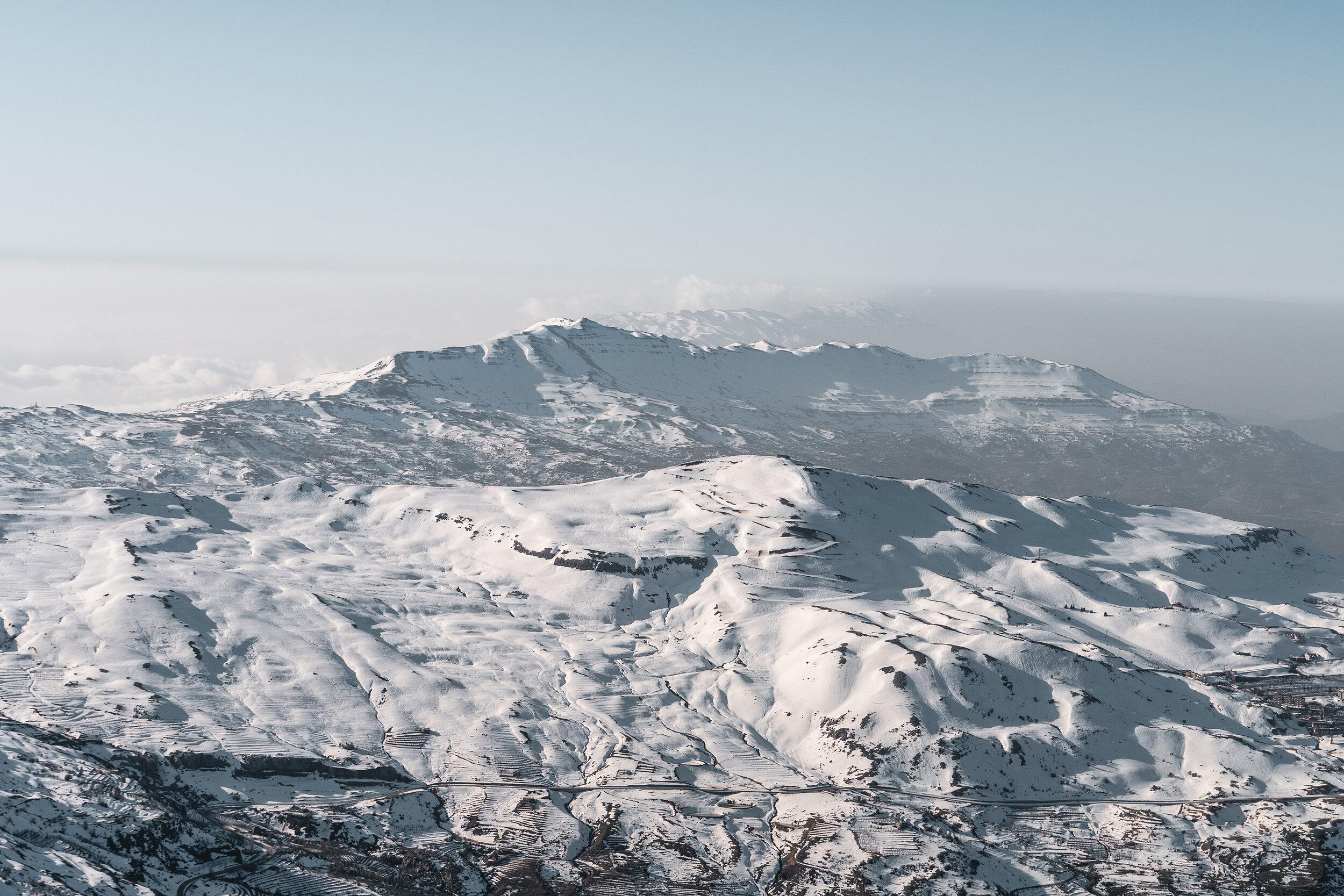 Paysage du côté de Zaarour, Mont Sannine