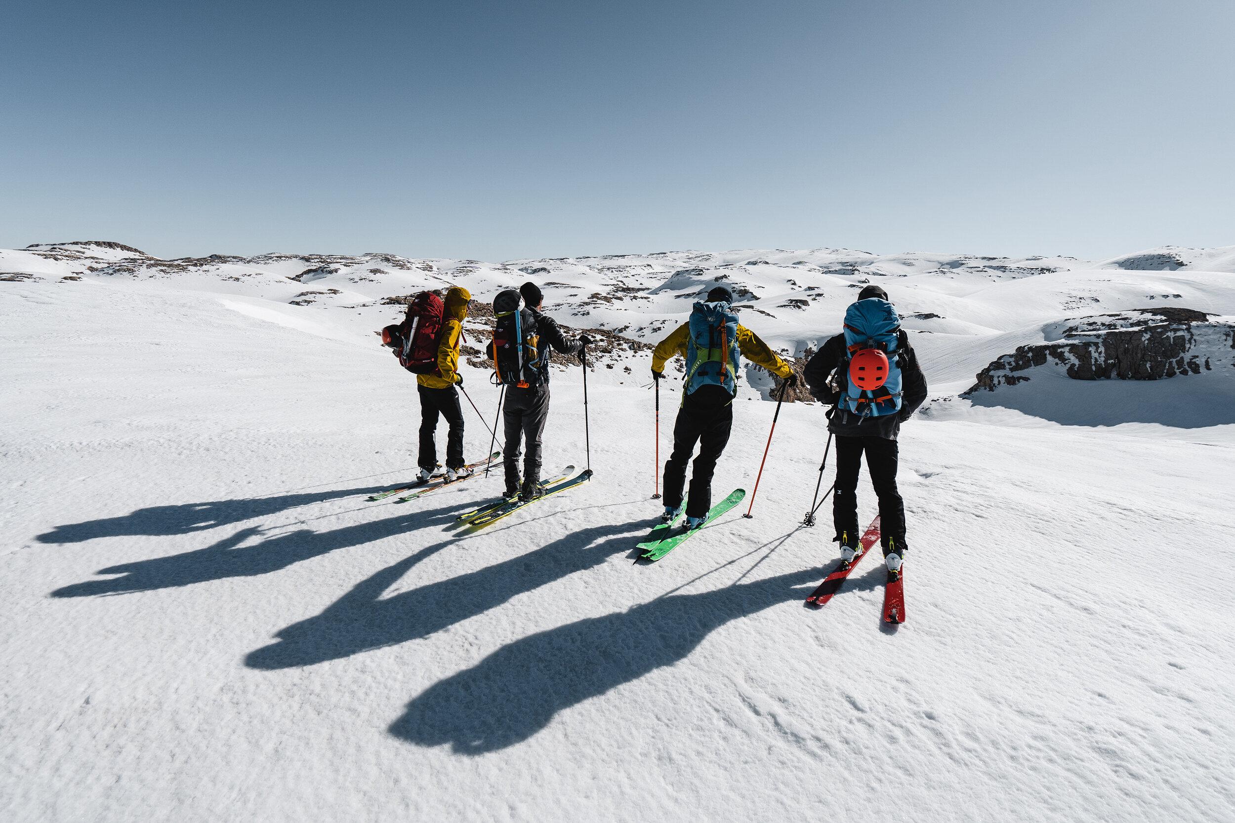 Direction le sommet du Mont Sannine