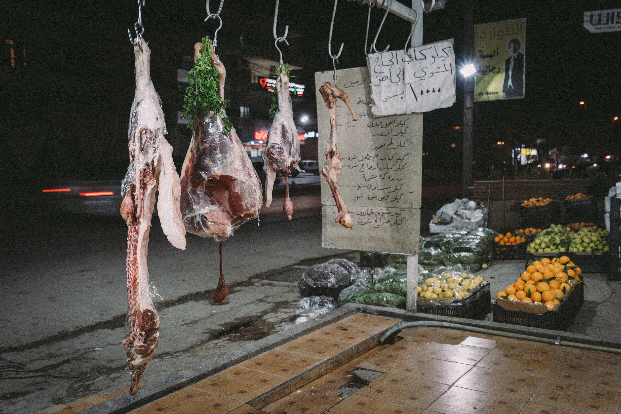 Viande d'une boucherie, plaine de la Bekaa