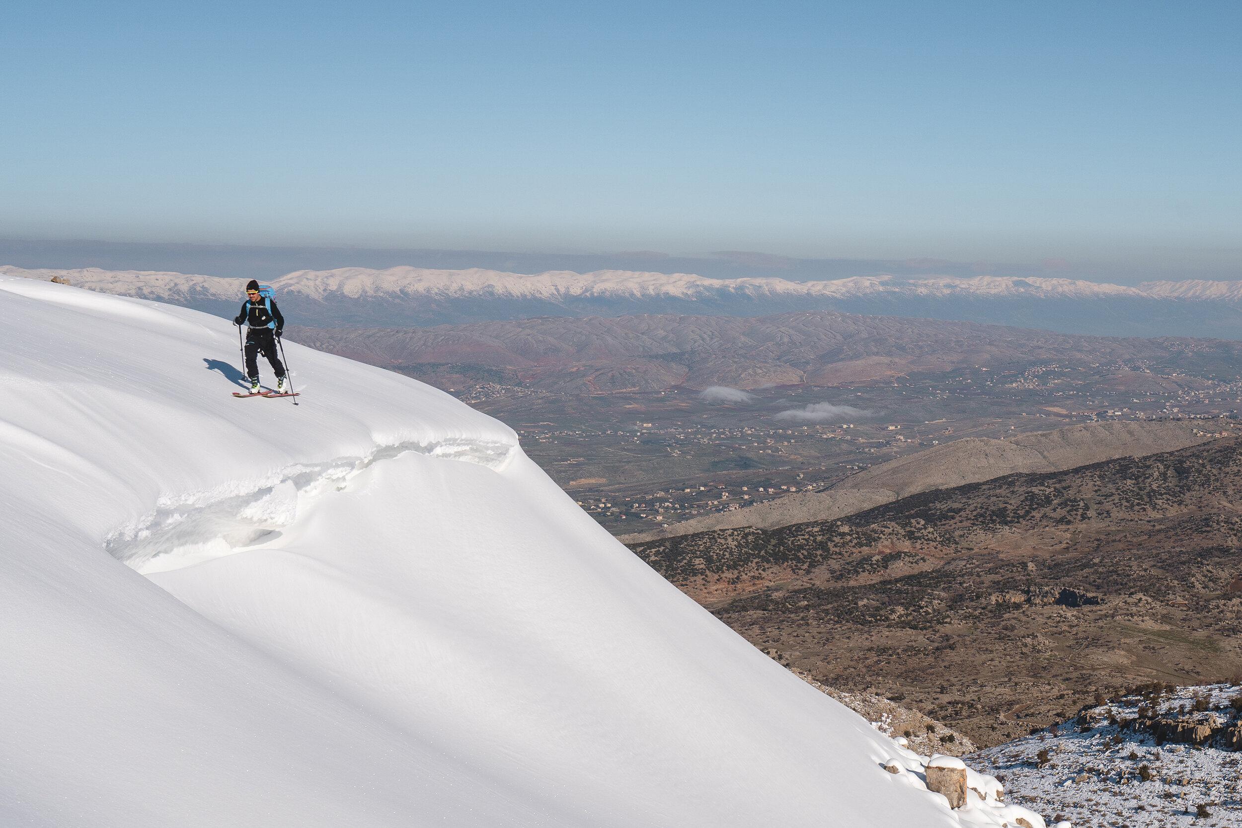 Raph sur une congère, Mont Hermon