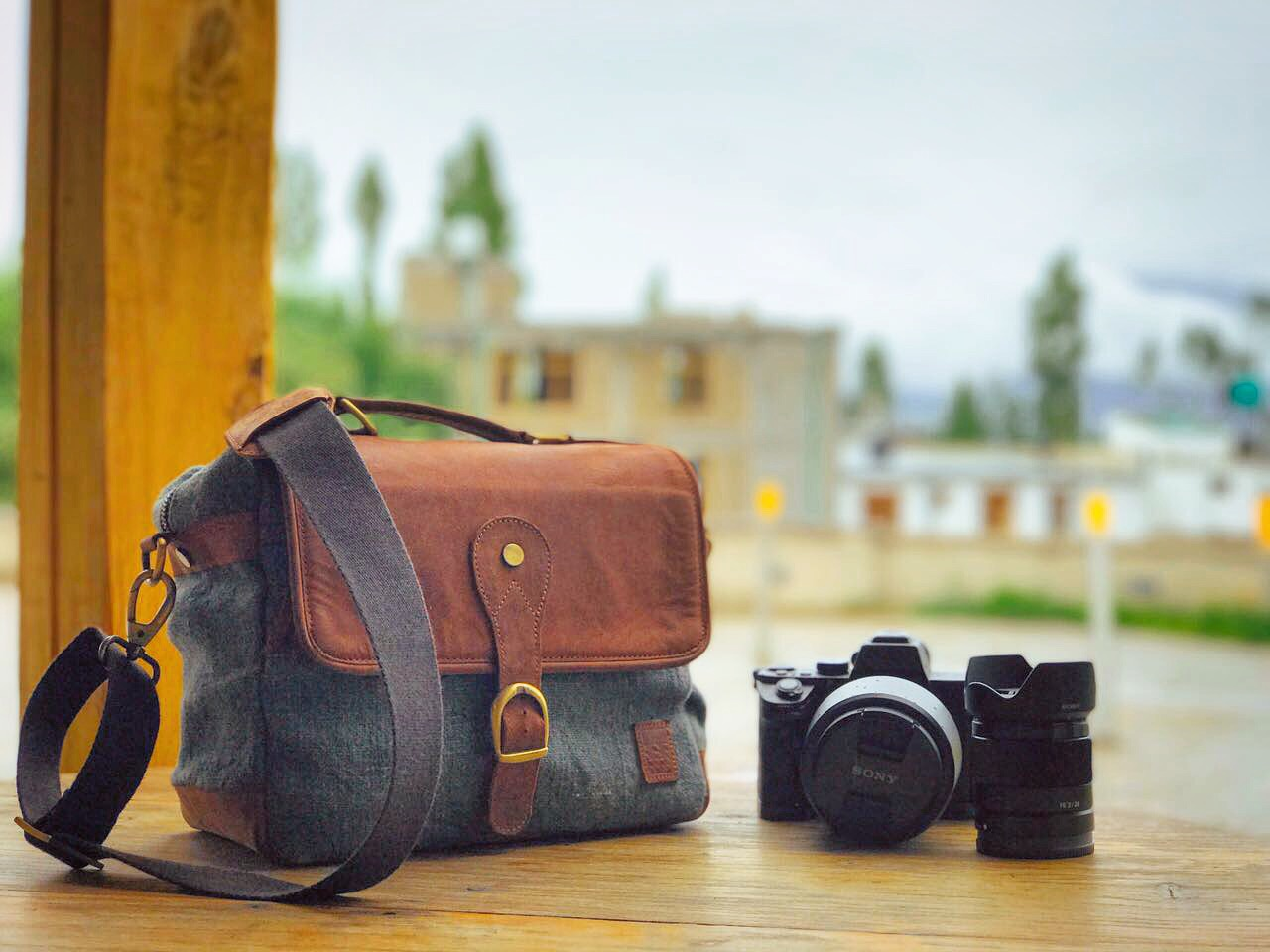 Image by Tushaar Mehra of this pretty awesome custom camera bag we made him. -