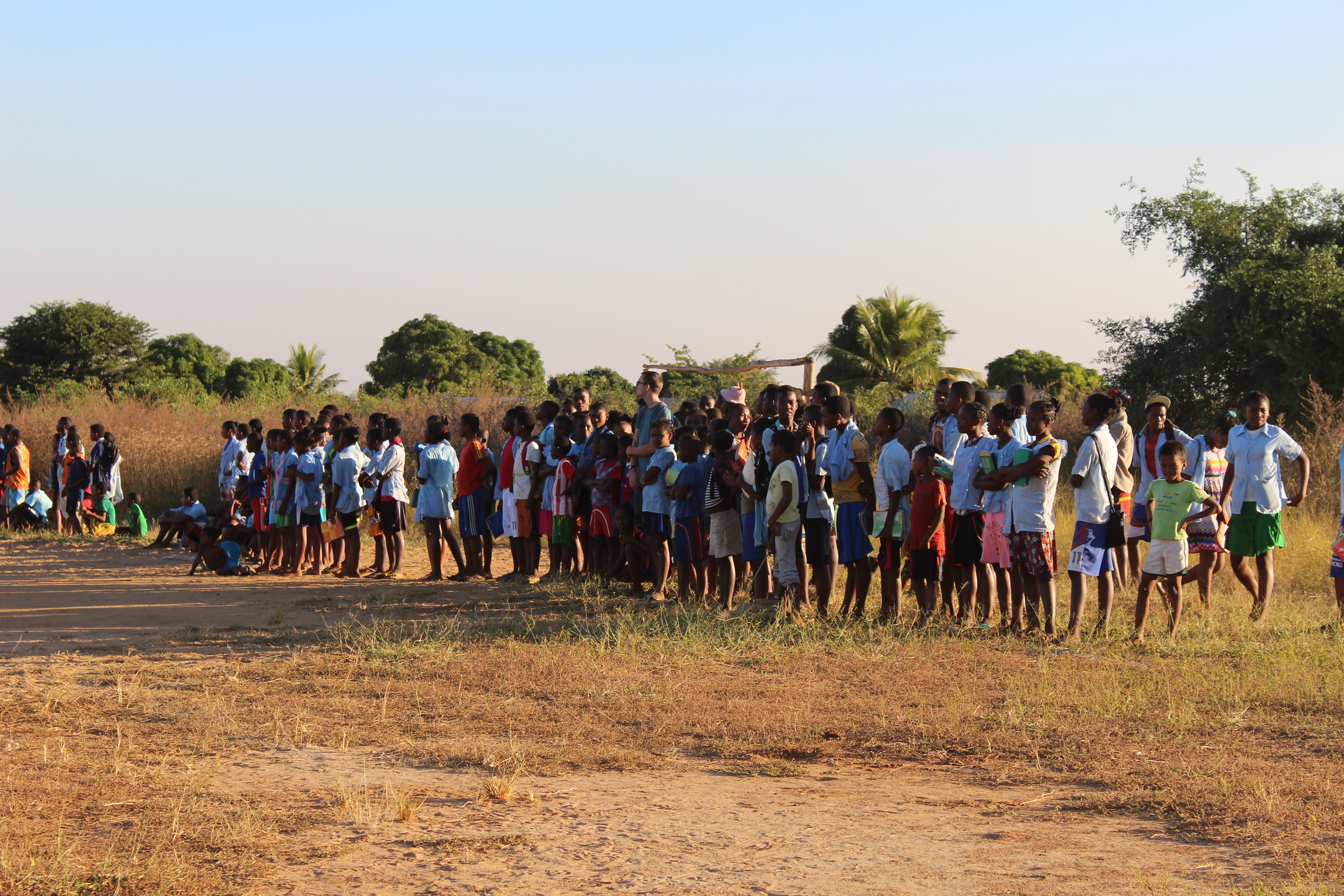 Seemingly in the middle of nowhere in Madagascar, a soccer game was taking place.