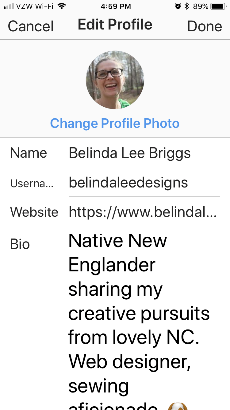 Edit your Instagram Profile and paste the link to your new page in the Website field (Step 8).
