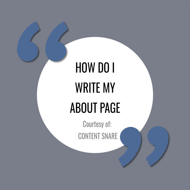 7 Tips for Writing an Impactful About Page Article by  Content Snare
