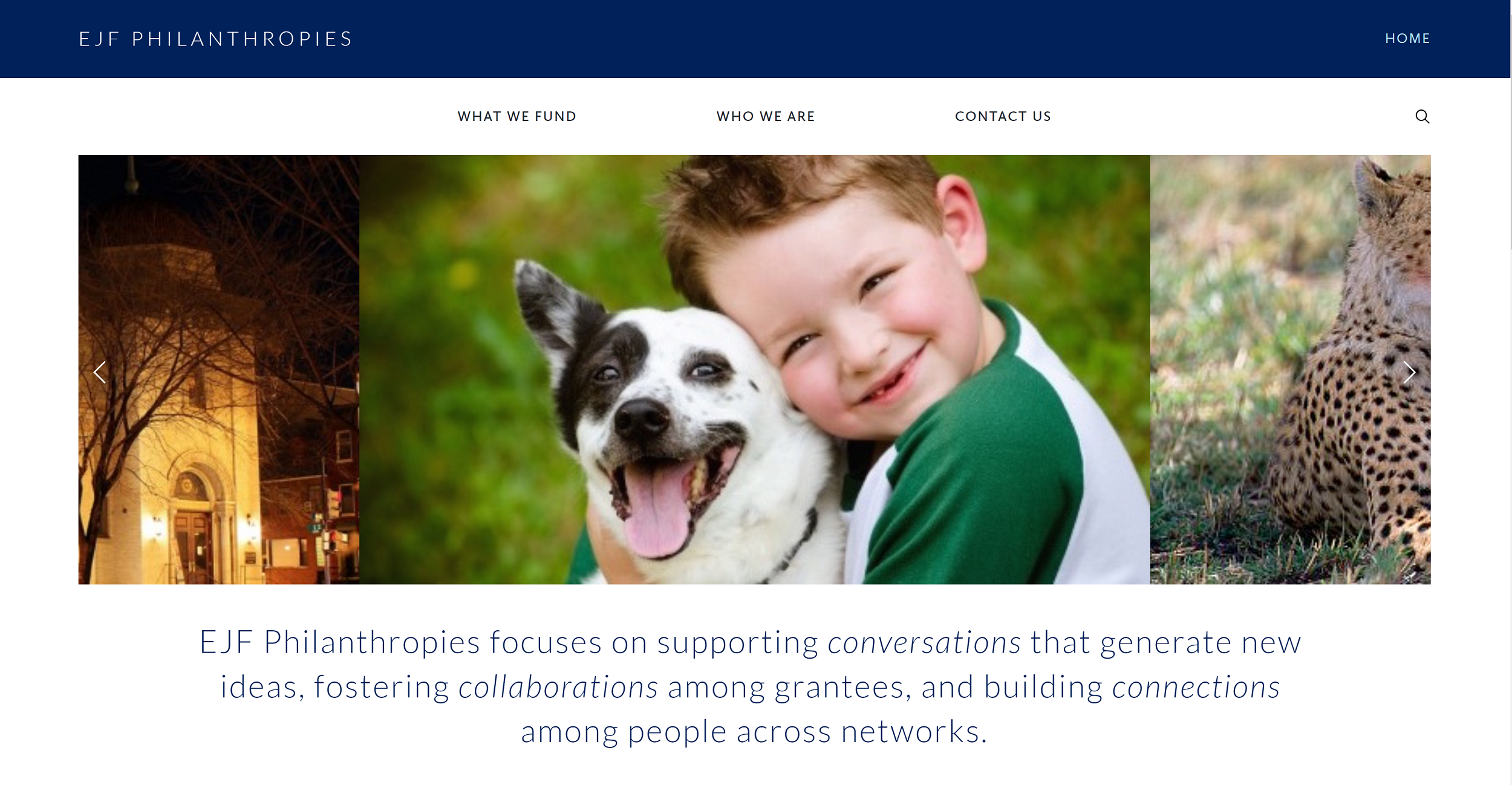 EJF Philanthropies Squarespace Website designed by  Belinda Lee Briggs