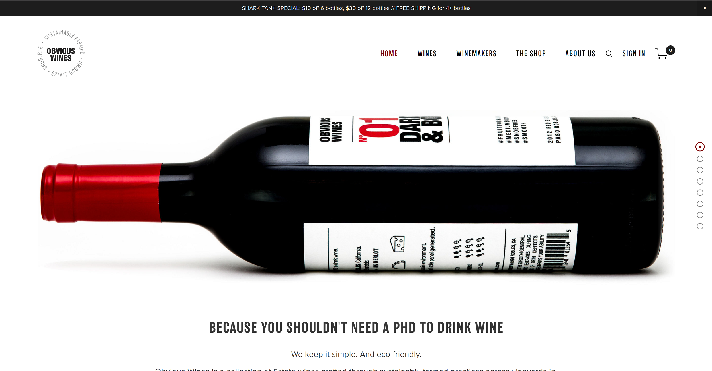 Obvious Wines  Squarespace Website designed by  Belinda Lee Briggs  (featured on  Shark Tank )