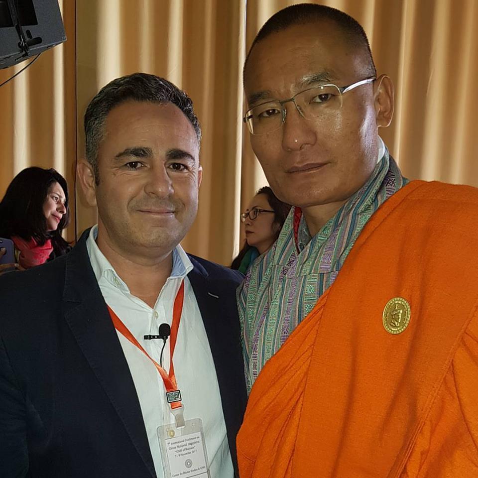 Luis Gallardo with Prime Minister of Bhutan, Lyonchhen Dasho Tshering Tobgay.