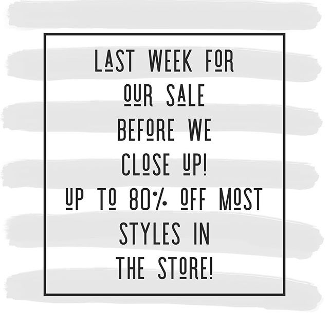 Last week before we close up shop! Up to 80% off of most styles in the store! . . #ethicalfashion #ethicalclothing #sustainablefashion #artisanmade #handmade #artisanluxury #springsale #closeoutsale #springfashion #madebyhand #luxuryfashion #fashion