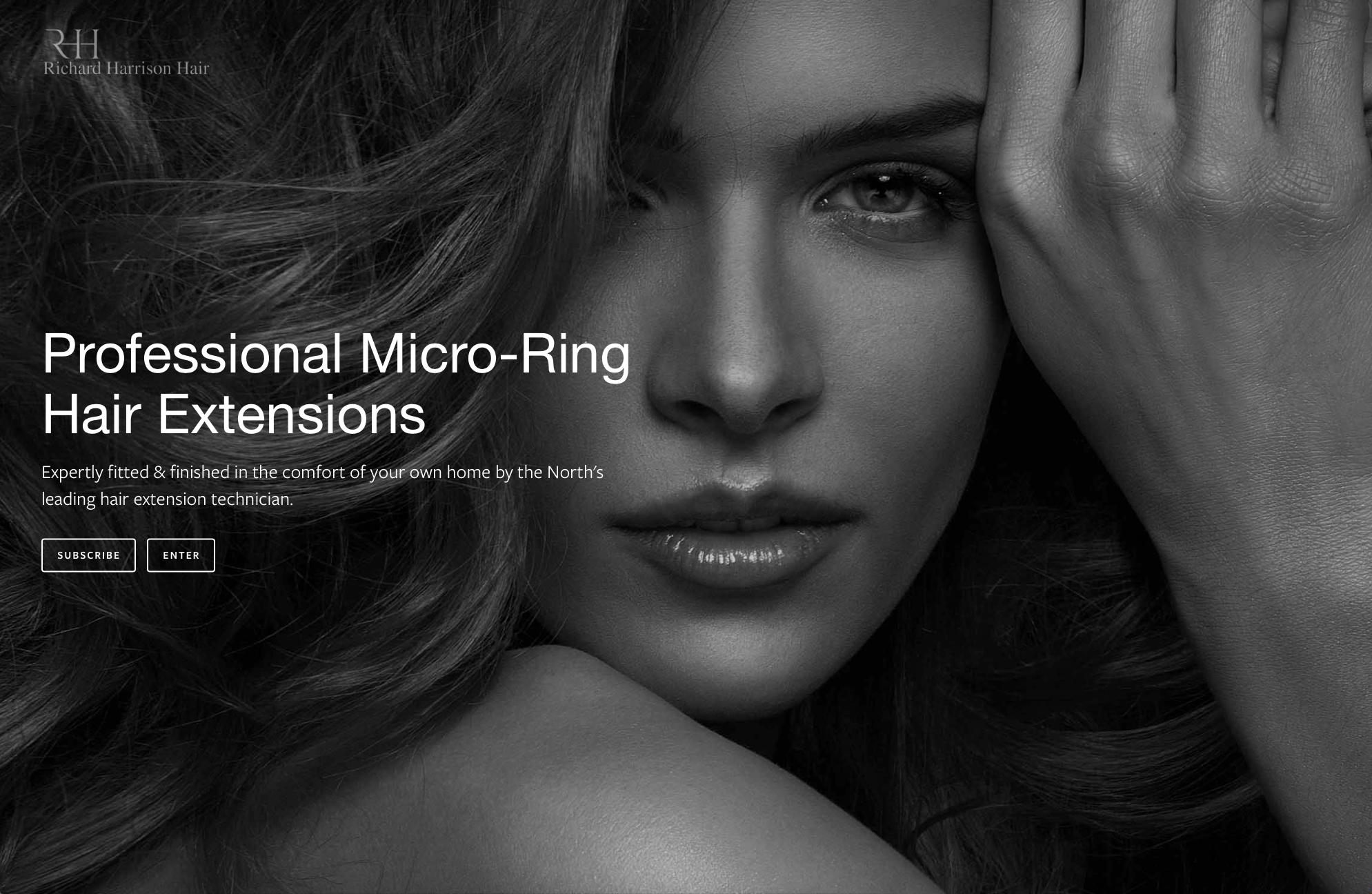 Lithium Design - Small Business Portfolio Richard Harrison Hair 1