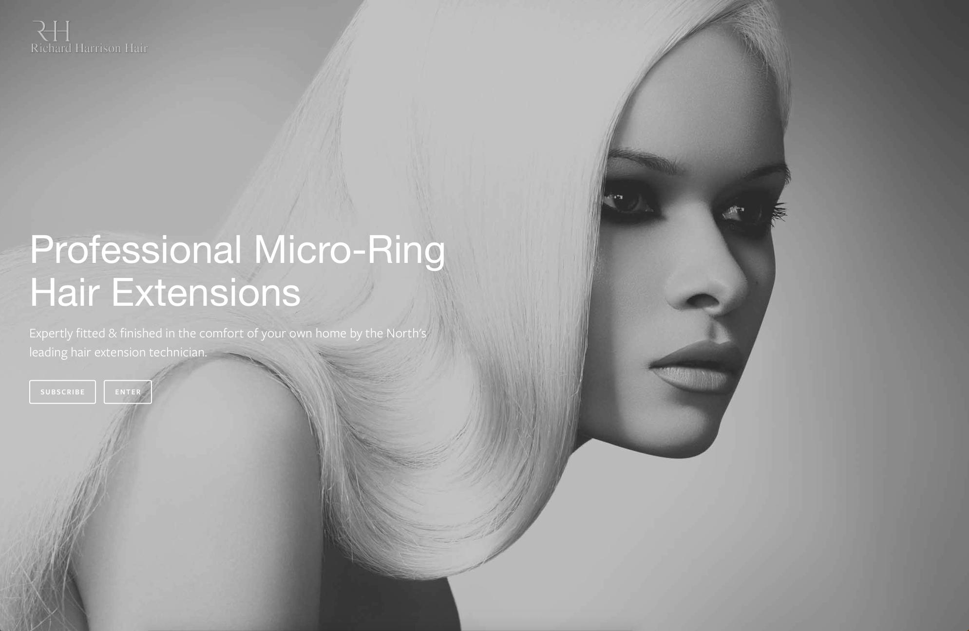 Lithium Design - Small Business Portfolio Richard Harrison Hair 1b