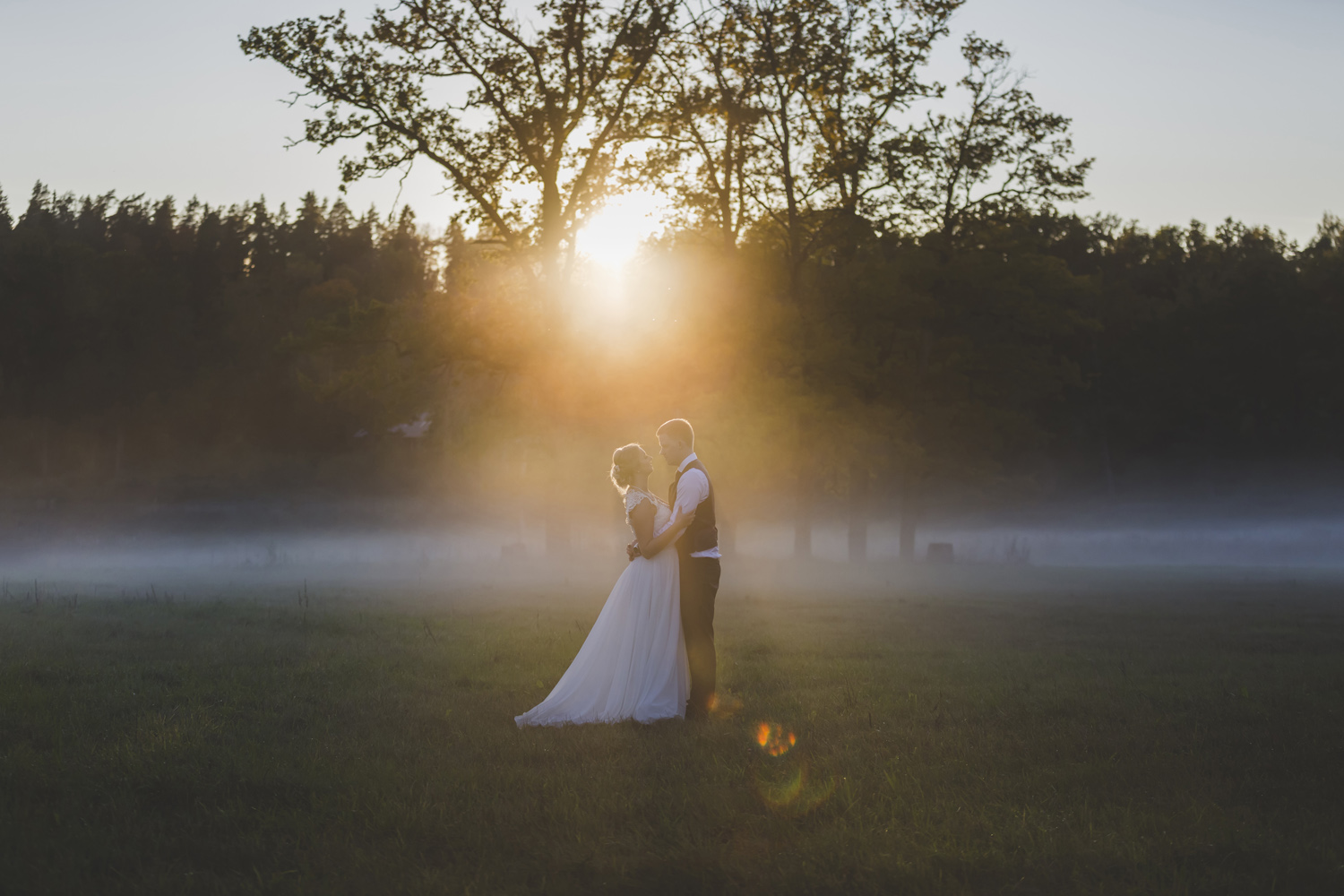 Romantic Sunset Wedding photo by wedding photographer Valdur Rosenvald