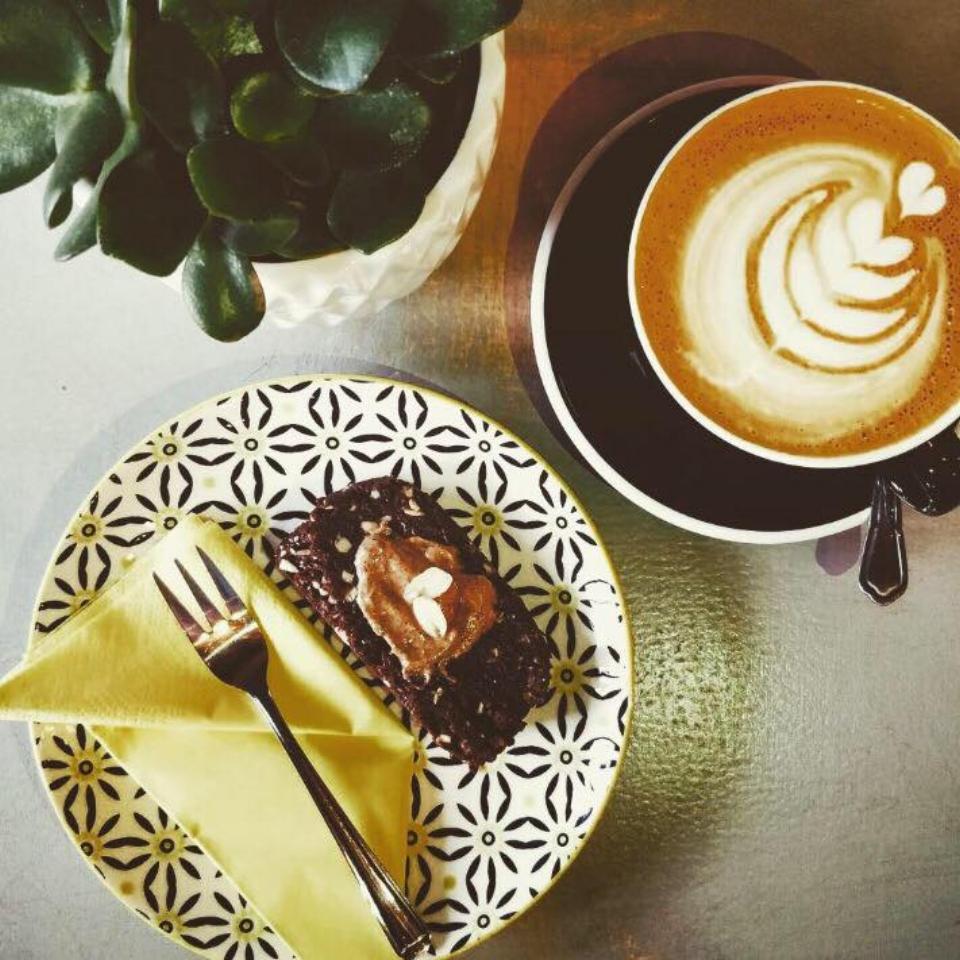 Raw Vegan Peanut Butter Cacao Brownie Slab