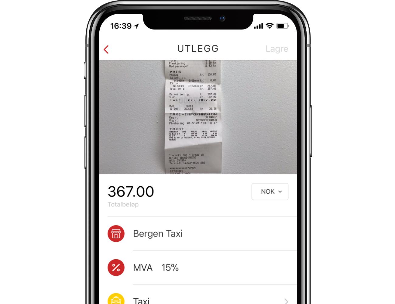 Reiseregning app