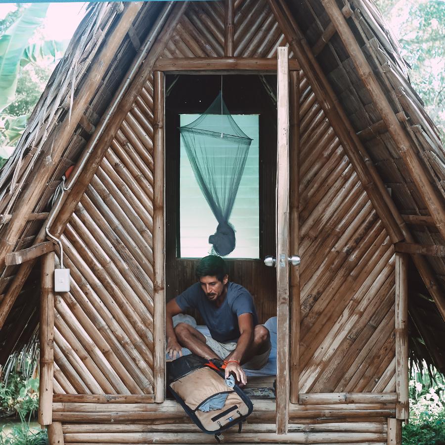 Dormir dans une cabane au milieu de rien aux Philippines. -