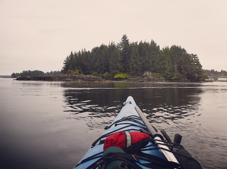 Morning paddle on Clayouquot Sound, Vancouver Island, British Columbia