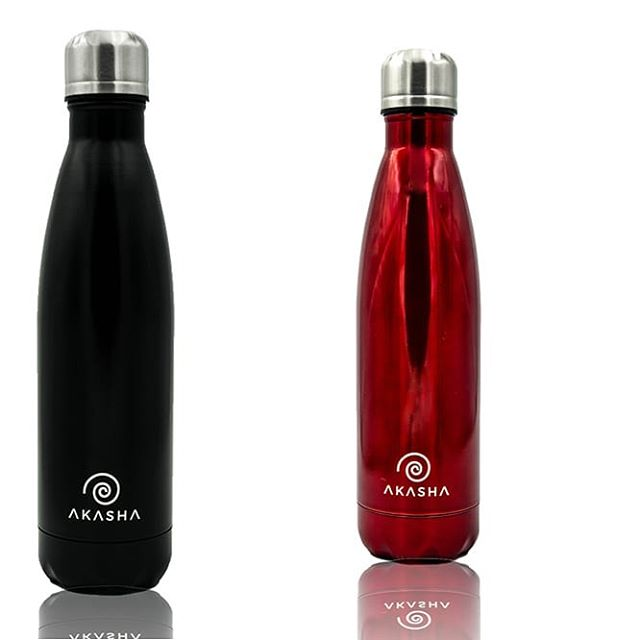 ♠�♥� -⠀⠀⠀⠀⠀⠀⠀⠀⠀ The Brand New Black and Red AKASHA bottles! ⚫🔴 -⠀⠀⠀⠀⠀⠀⠀⠀⠀ Try to name a more iconic duo...