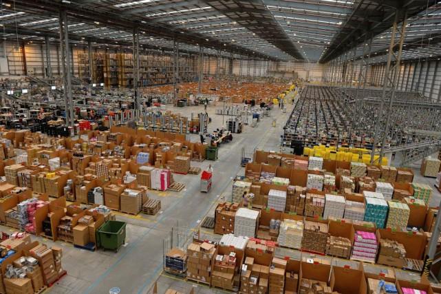 Un entrepôt d'Amazon à Peterborough, au Royaume-Uni - PHOTO ANDREW YATES, ARCHIVES AGENCE FRANCE-PRESSE