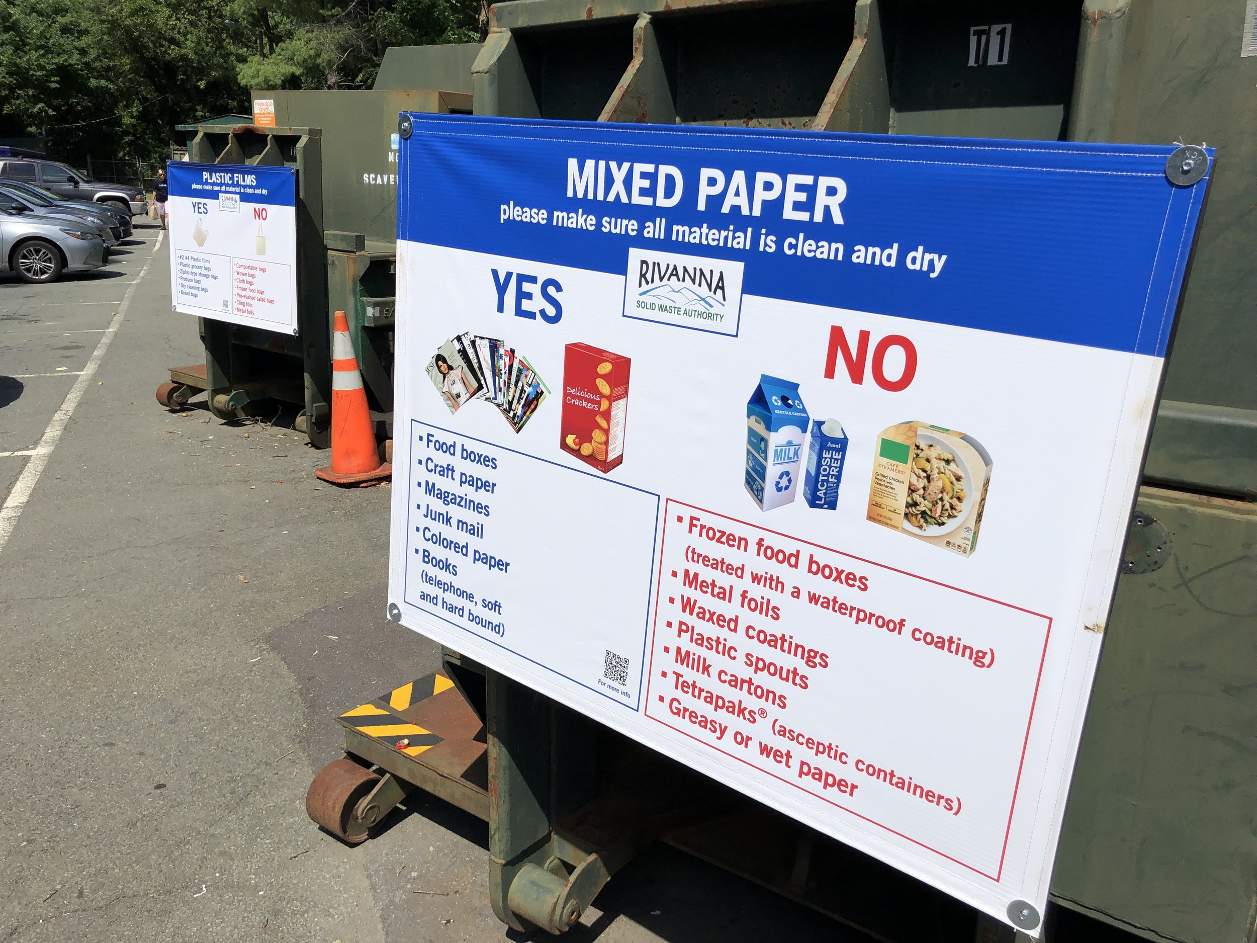 New signage to help keep Mixed Paper Bin clean!