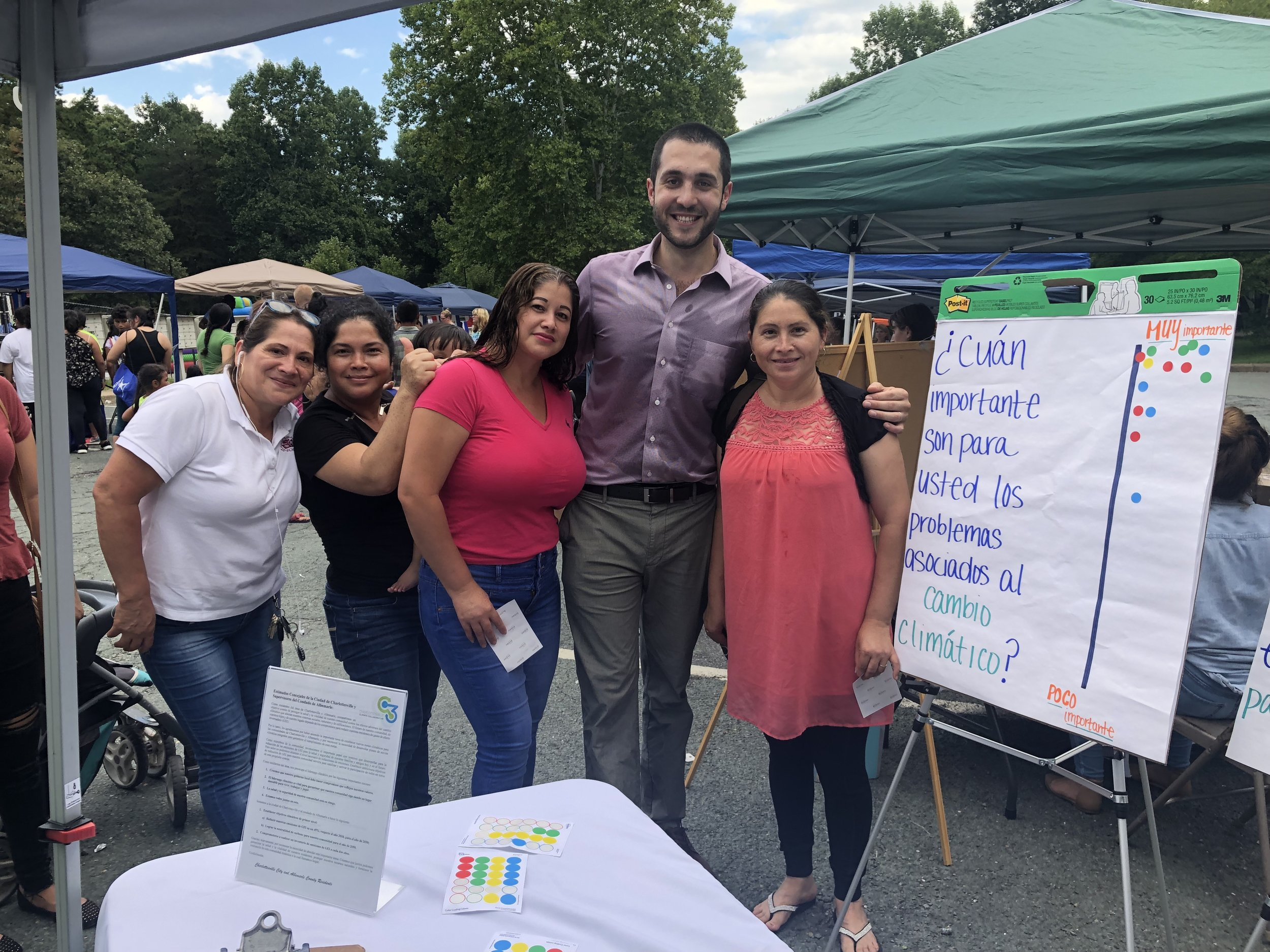 Ceatano with local moms at the Southwood Back-to-School Fair