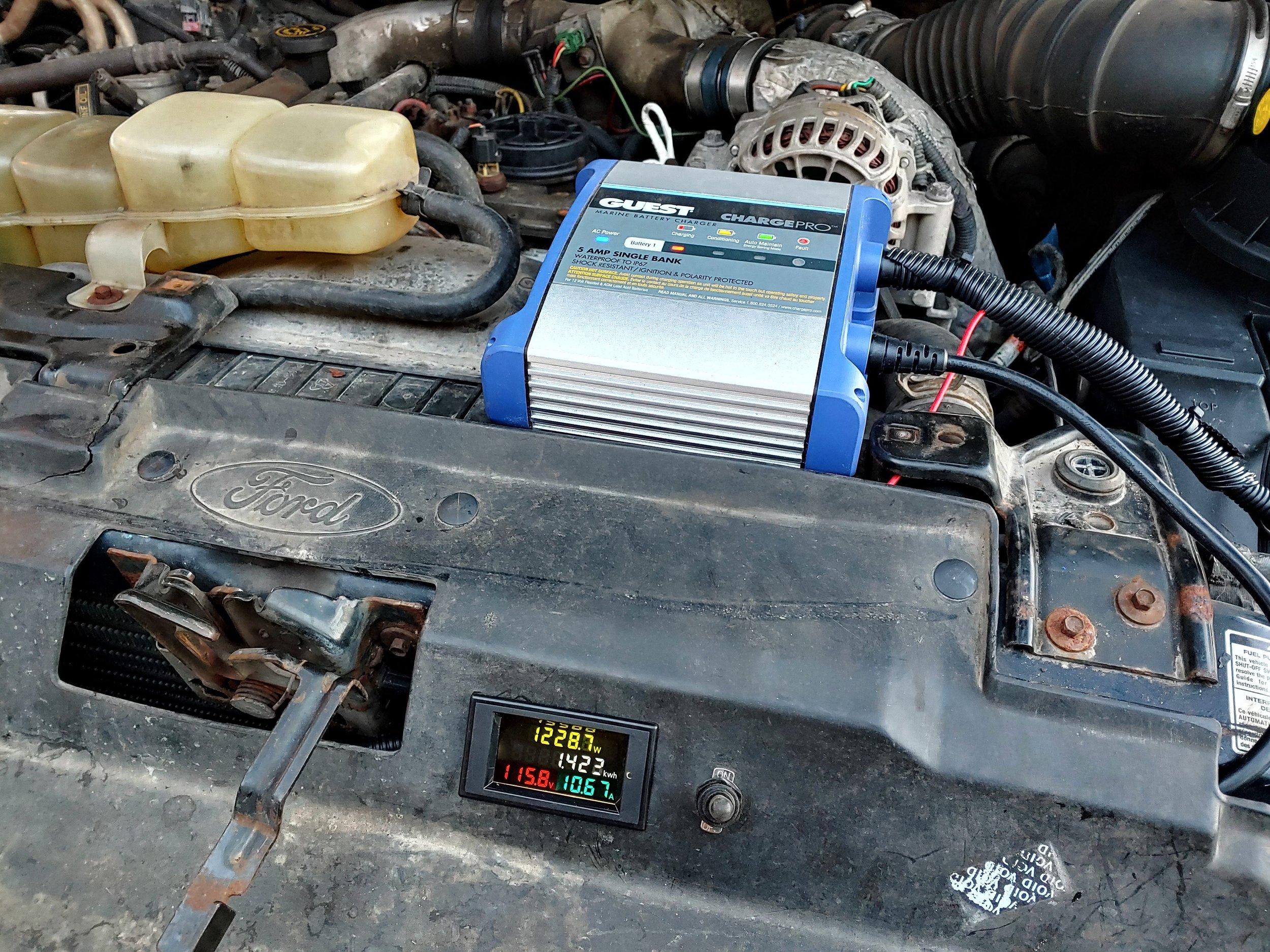 Battery Tender Installed