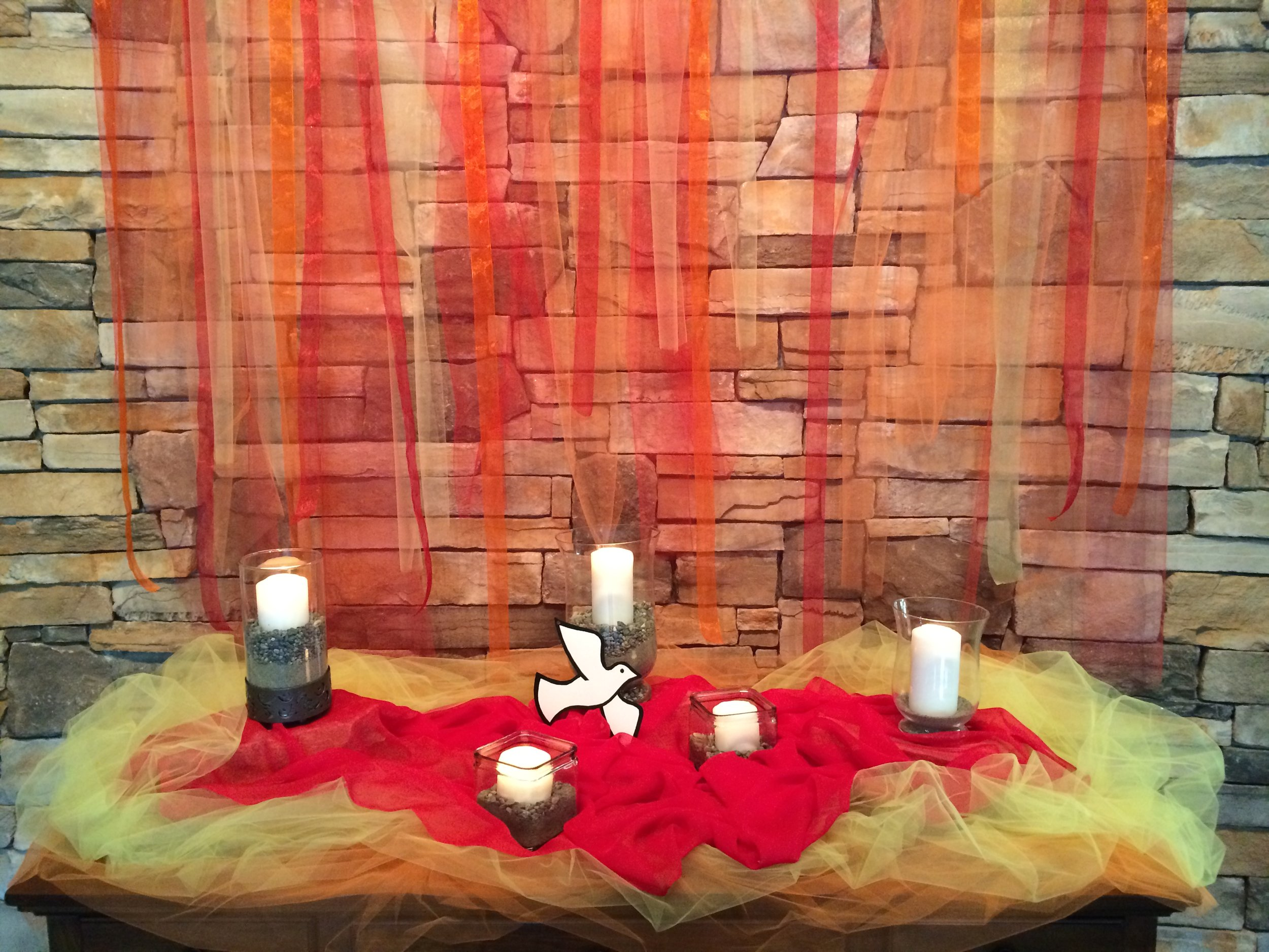 The altar is set for Holy Week at Shepherd of the Hills Lutheran Church in Sammamish, WA.