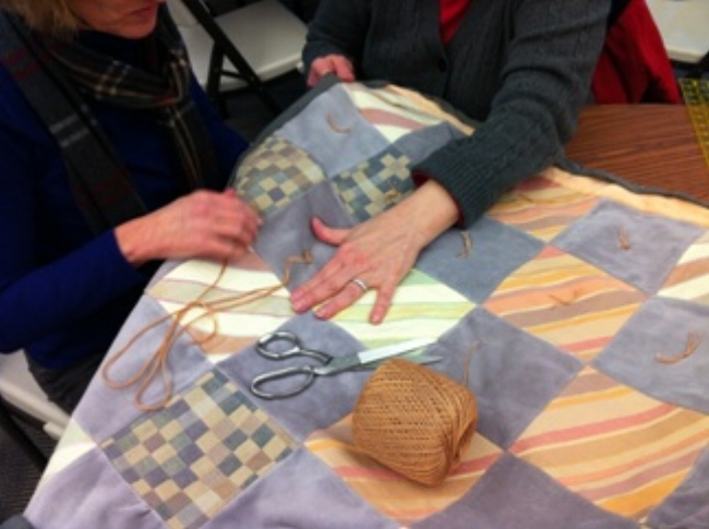 Quilts for Lutheran World Relief at Shepherd of the Hills Lutheran Church in Sammamish, WA.