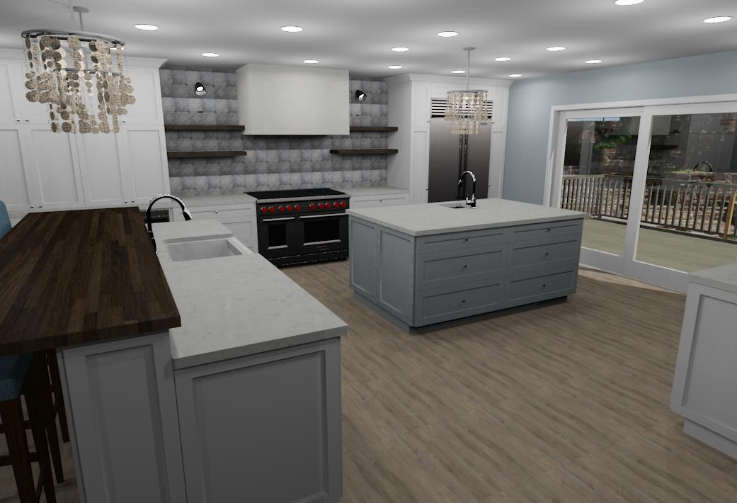 3D Rendering for an upcoming beach front kitchen