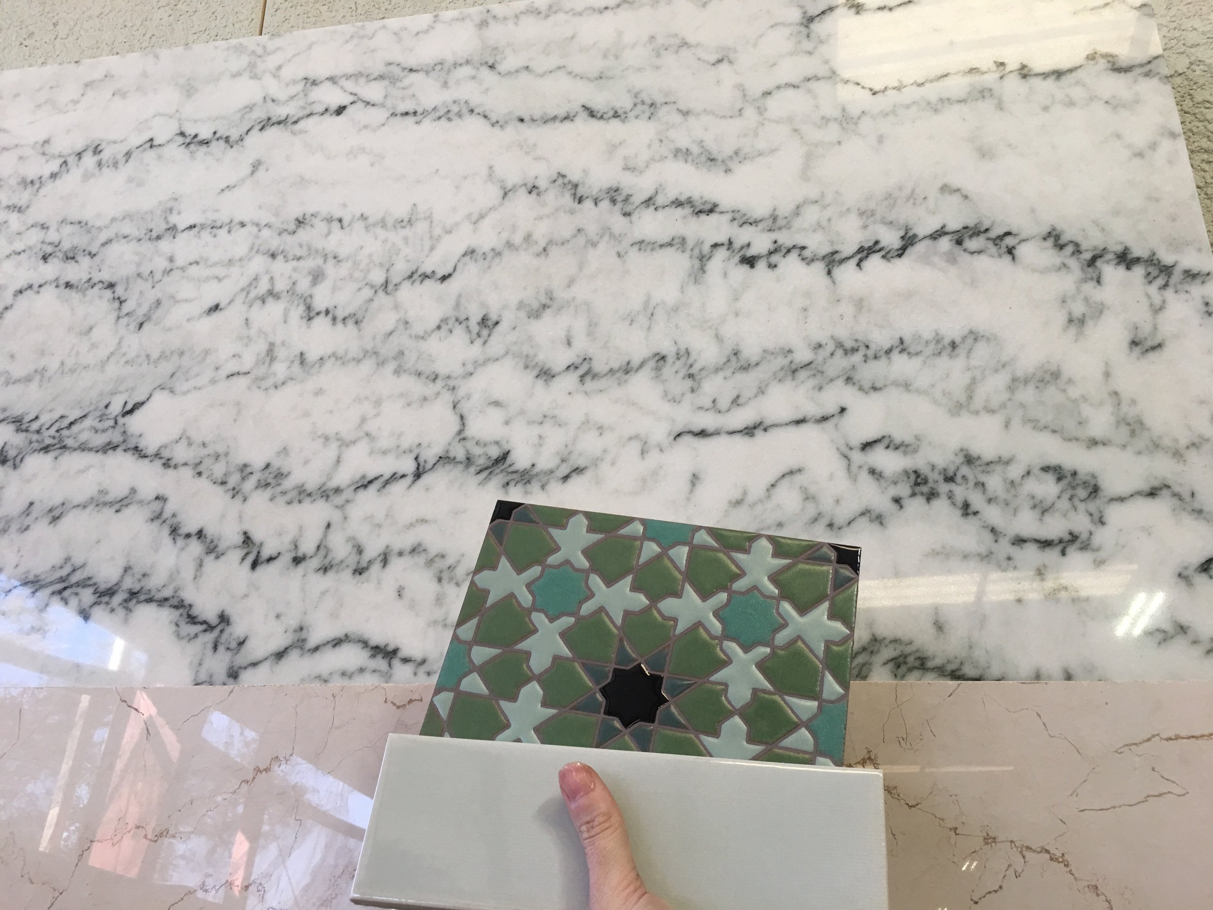 Countertop shopping. I found this beautiful marble from  Mont Krest  in Largo.