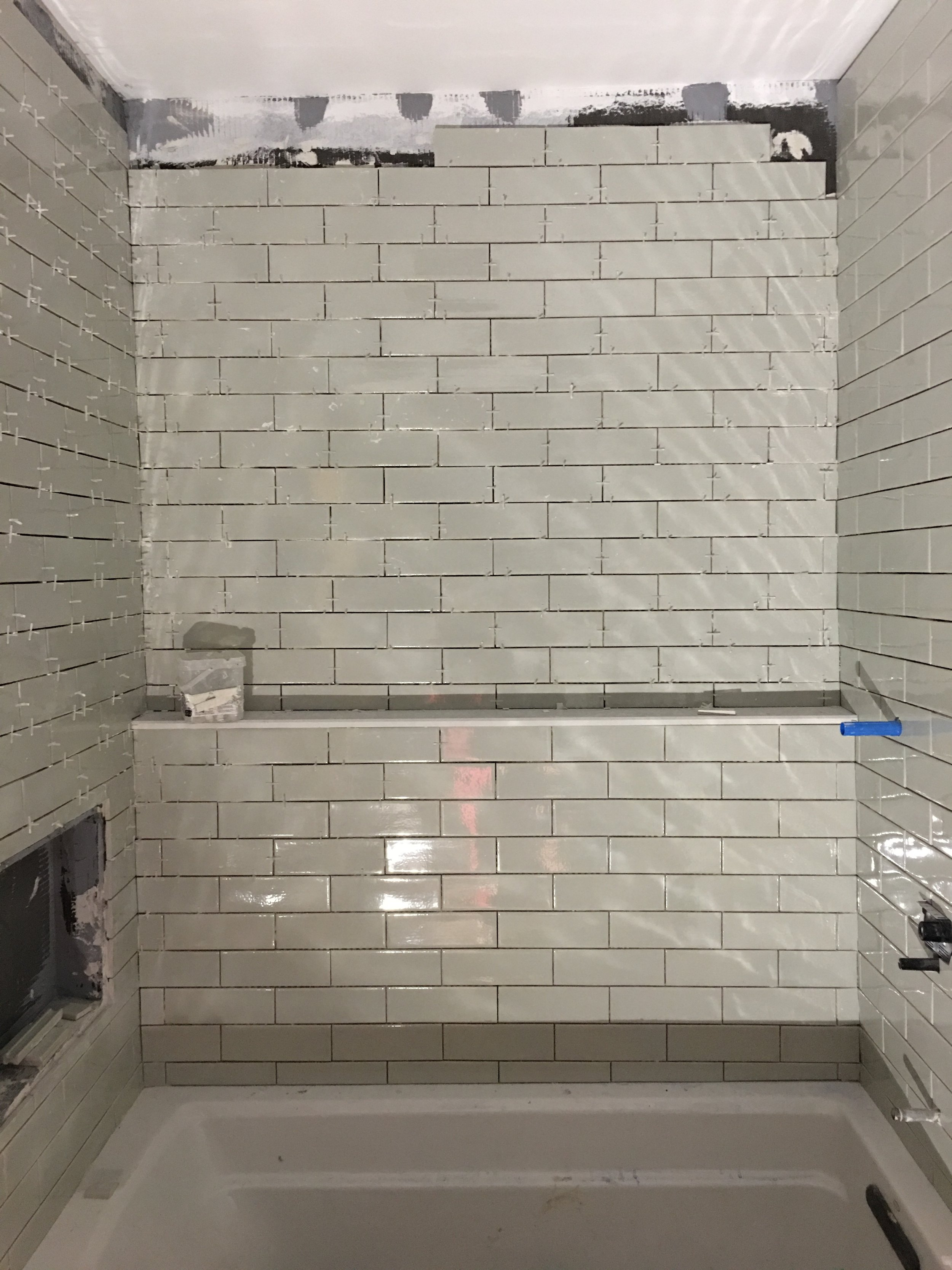 Beautiful tile, just a little off level.