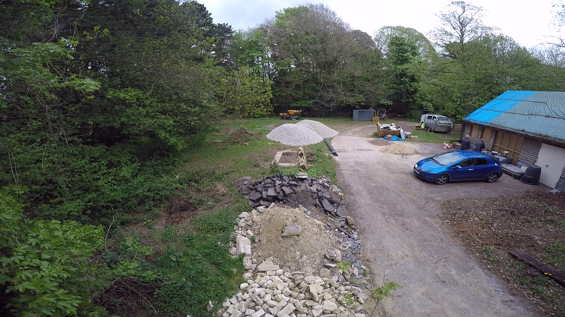 Initial site preparation for residential new build Upton St Leonards