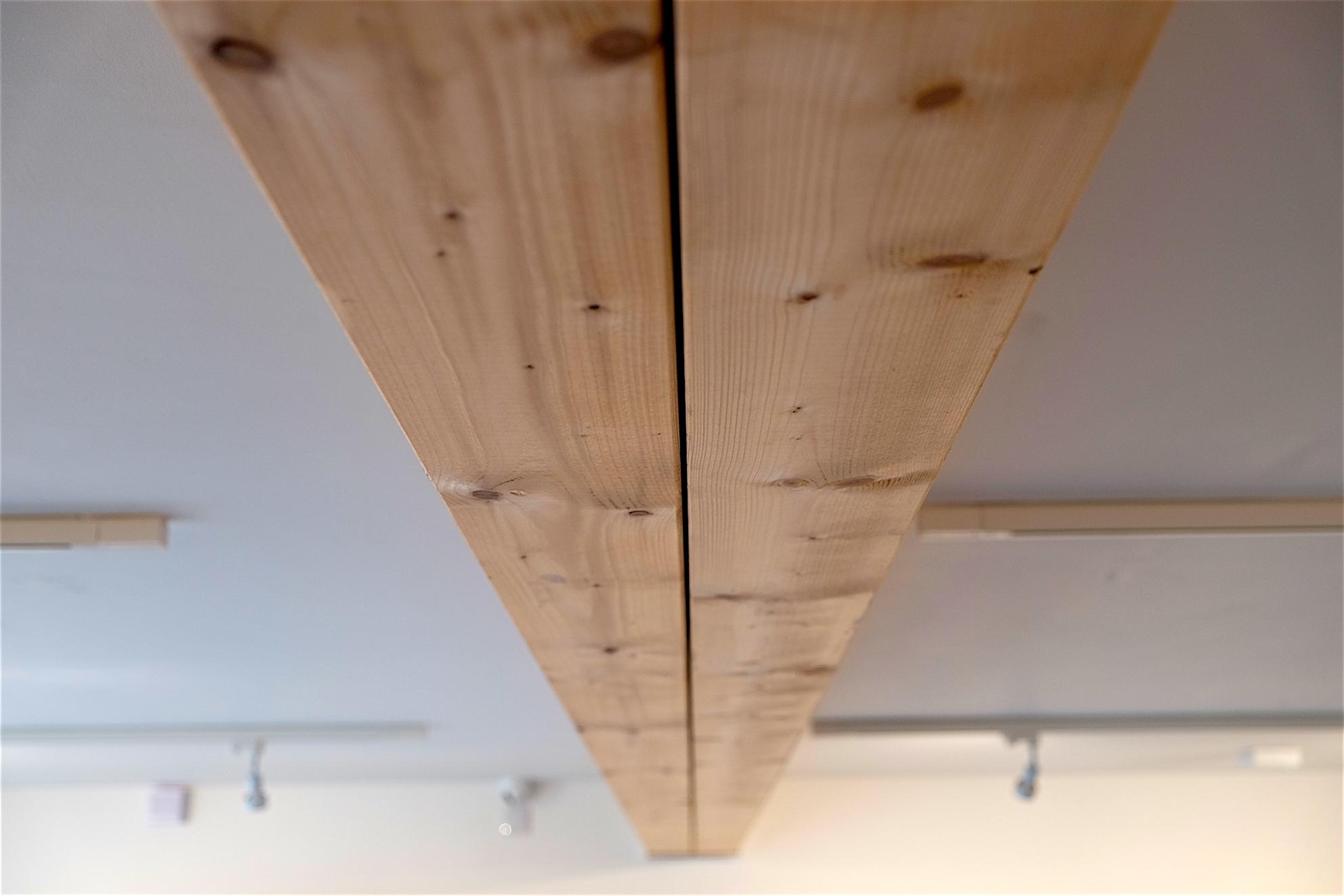 Internal wooden beam detail