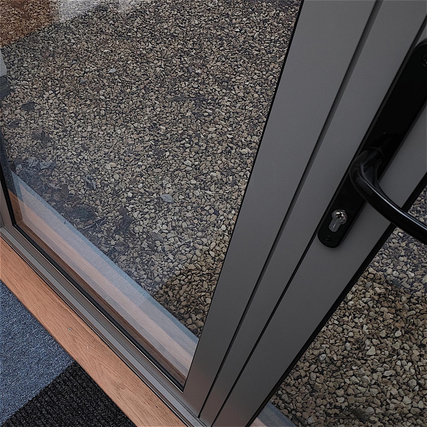 Aluminium door detail