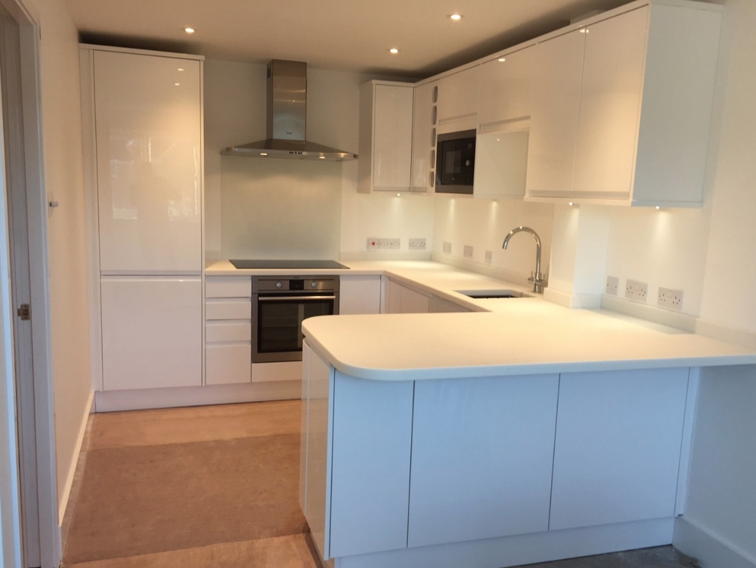 Fitting new kitchen into roof top apartment after internal redesign