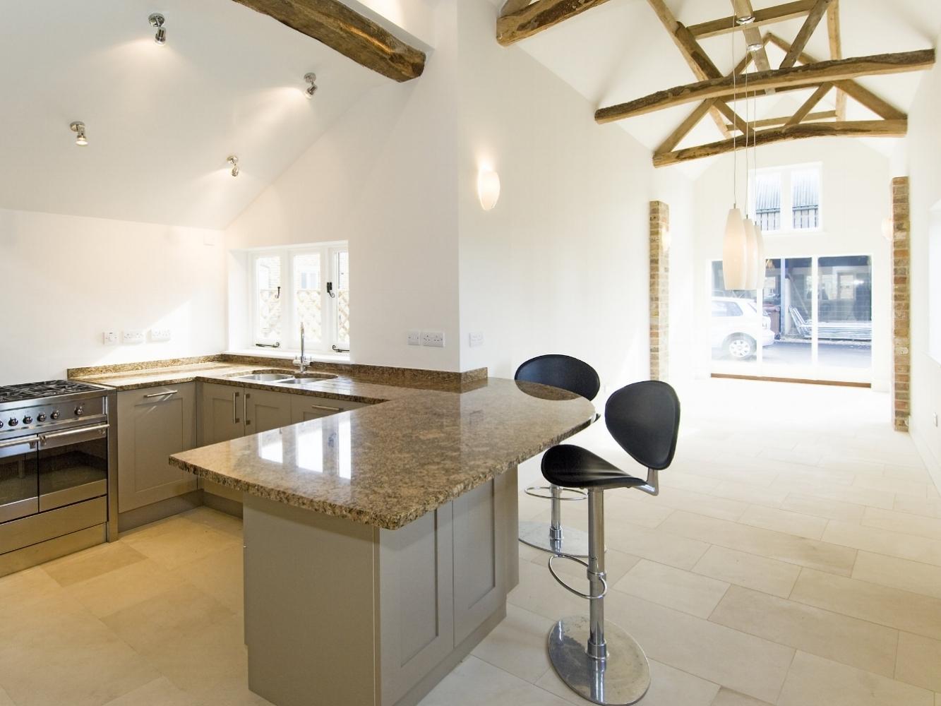 Kitchen in South Barn, barn conversion, Tredington, Gloucestershire
