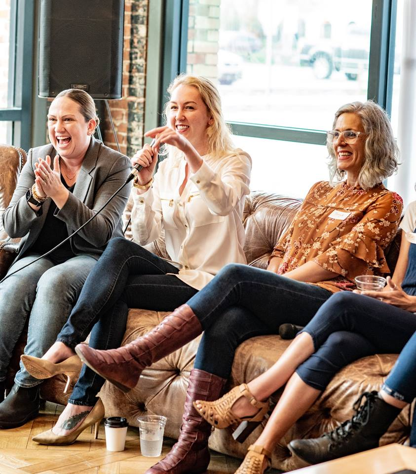 Photo by Christina Jones Photography // Babe Crafted's Galentine's Day Breakfast & Panel in February of 2019