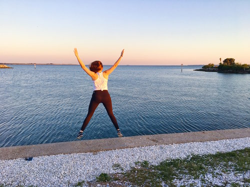 This is me hangin' on Davis Island after a Circuit class at Camp. Find a workout that makes you feel this extra.