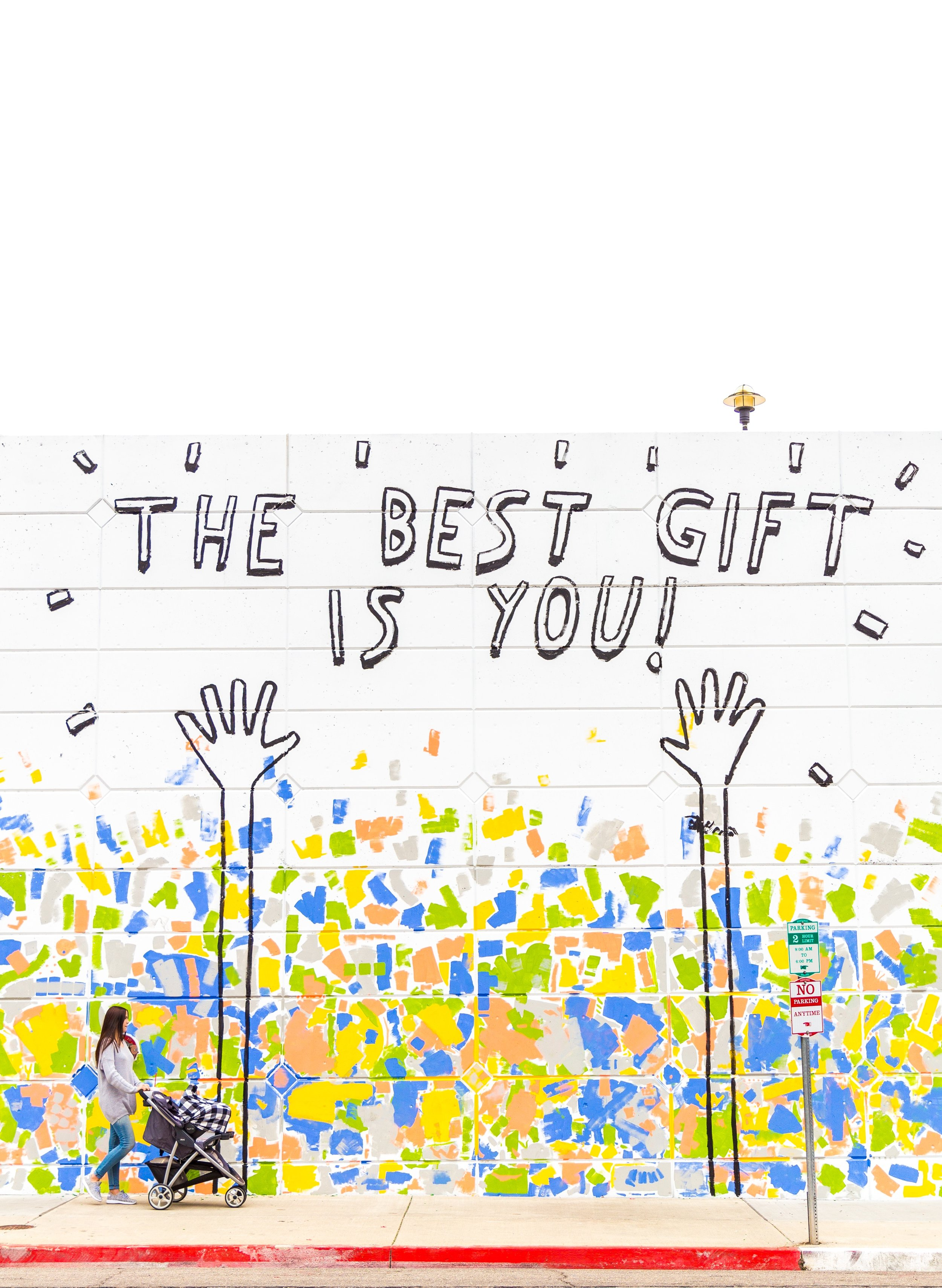 The best gift is you wall art