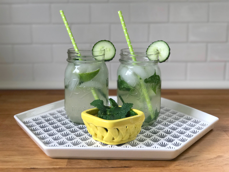 Sparkling Cucumber Mint Cocktail