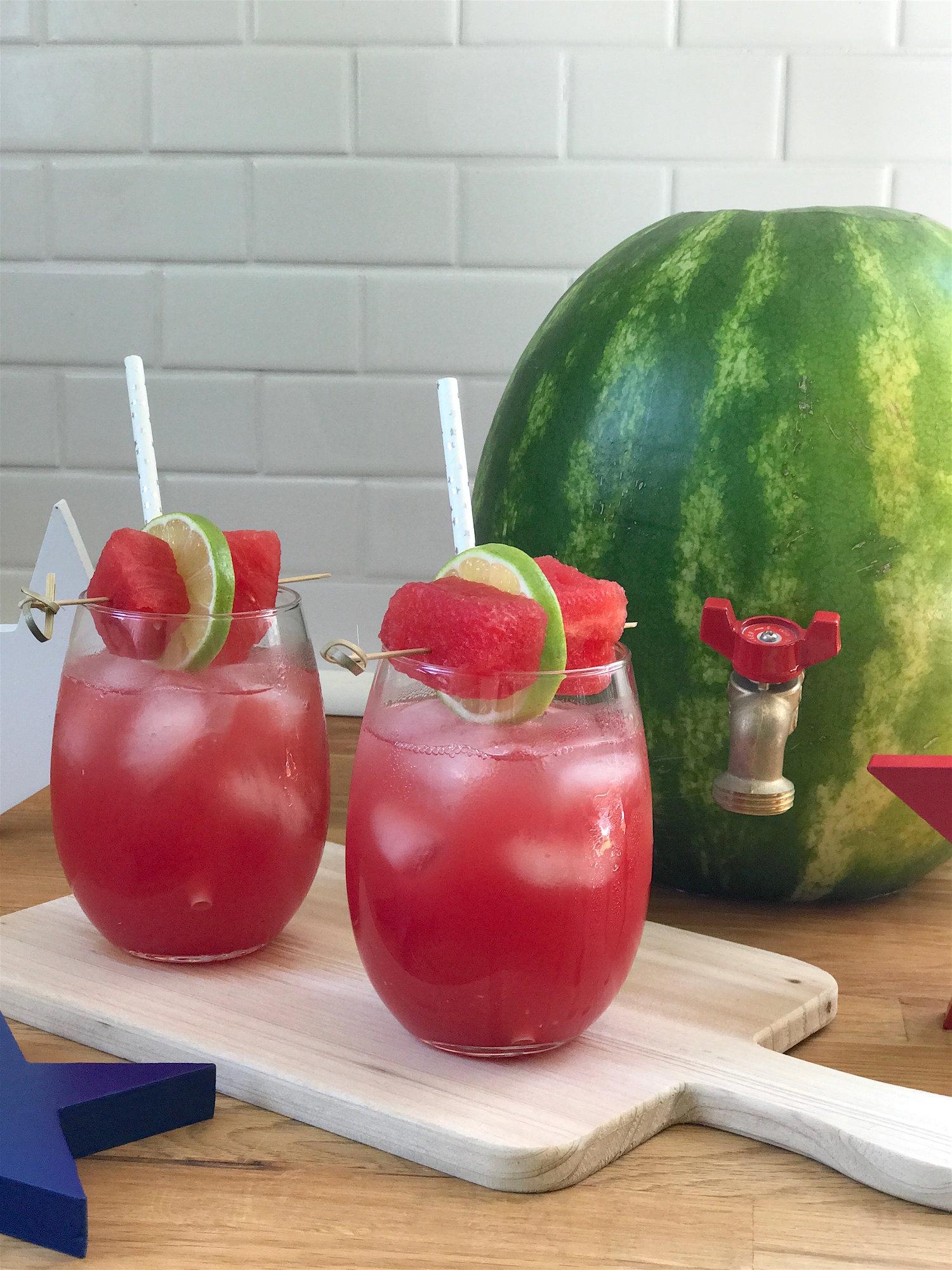Watermelon Keg Cocktails